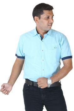 Buy IGNU Firozi Cotton Half Sleeves Branded Casual Shirts Online at GetAbhi.com http://tinyurl.com/jzbwy5v