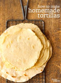 You only need two ingredients to make homemade tortillas! Don't delay -- this must-try Mexican favorite is simpler than you think. See how to make them: http://www.bhg.com/videos/m/88952575/two-ingredient-homemade-tortillas-are-so-easy.htm