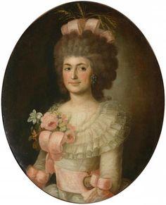 Portrait de Praskovya Myatleva, née Saltykov, vers 1780-90 entourage de Fyodor Stepanovich Rokotov