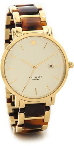 So classic, so pretty!   Kate Spade New York Gramercy Grand Watch