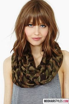 If you are looking for a new style to change things up then why not try adding bangs to your overall style. The great thing about bangs is that they go with all styles of hair, long, short and medium.
