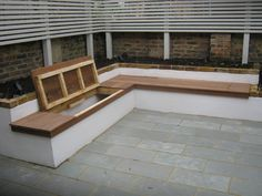 Bespoke Construction – Garden Gurus Corner Garden Seating, Built In Garden Seating, Backyard Seating, Backyard Patio Designs, Outdoor Seating, Backyard Landscaping, Garden Seating Areas, Corner Patio Ideas, Back Garden Design