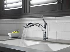 Delta 4353-DST Linden Single Handle Pull-Out Kitchen Faucet