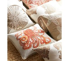 La Paz Jeweled Octopus Pillow Covers   Pottery Barn