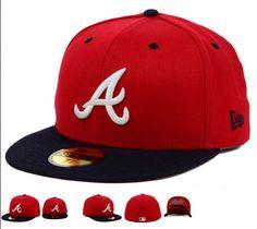 Atlanta Braves New Era MLB Team Underform 59FIFTY Cap&Hats Fitted Hats #snapbacks #snapbackhats #hats #popular