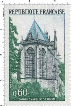 Timbre : 1971 SAINTE CHAPELLE DE RIOM | WikiTimbres