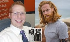 Cardiff-born Gwilym Pugh, 33, has gained fans across the globe thanks to his distinctive ginger facial hair and 7 stone weight loss - and has even been snapped up by David Beckham.