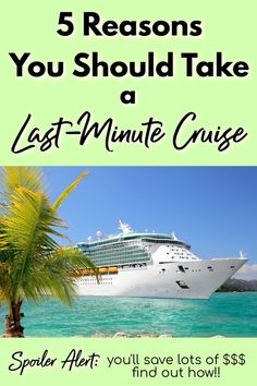 Last minute cruises can be incredible, value-packed vacations! These 5 reasons you should take a last minute cruise will help give you the push you need! Packing List For Cruise, Cruise Tips, Cruise Travel, Cruise Vacation, Vacation Trips, Vacations, Cruise Destinations, Amazing Destinations, Last Minute Cruises