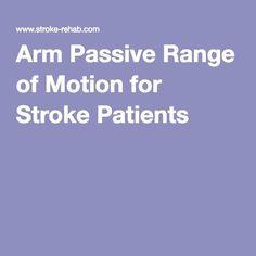 Arm Passive Range of Motion for Stroke Patients