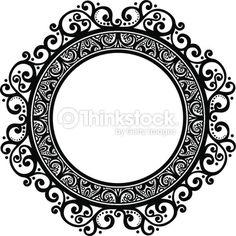 imagenes de marcos barrocos - Buscar con Google Mandala Design, Mandala Art, Doodle Frames, Stencils, Borders For Paper, Badge Design, Ornaments Design, Round Frame, Gold Texture