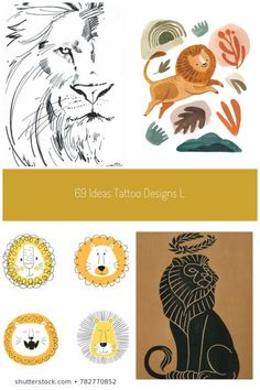 69 Ideas Tattoo Designs Lion Illustrations For 2019 #tattoo #lion illustration 69 Ideas Tattoo Designs Lion Illustrations For 2019