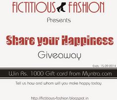Fictitious Fashion: GIVEAWAY: Share your Happiness
