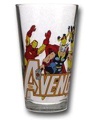 Avengers Clear Pint Glass