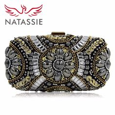 Cheap beaded clutch purses, Buy Quality clutch purse directly from China evening bags Suppliers: NATASSIE Fashion Women Clutches Bags Ladies Evening Bag Wedding Female Beaded Clutch Purses women bags fashion, women bags fashion 2018, women bags handbags, women baggy pants, women bag for work, women bags, women | bag and shoes, women bags and accessories #bags #shoulderbag #leatherbag #casualbag #trends #handbag