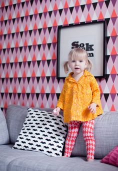 #kleurrijk #kinderkamer #behang   photographer Lisbet Spörndly ISAK