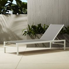 Shop Idle Grey Outdoor Chaise Lounge. Minimalist Outdoor Reclining Chaise  Lounge Basks In Sleek Grey