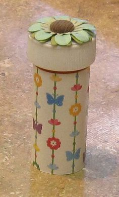 Reuse Medicine Bottles - Decorate and use to keep bobby pins, q-tips, sewing kit, paper clips...