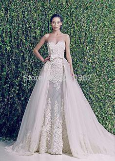 Aliexpress.com: Comprar 2015 nueva boda vestidos novia opacidad desmontable falda vestido de boda atractivo del arco de moda vestido de novia de vestir Swarovski fiable proveedores en C_L Dress FACTORY STORE