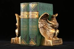 Excited to share the latest addition to my #etsy shop: Eagle Bookends, Gold Eagle Bookends, American Eagle Bookends, Brass Metal Bookends, Patriotic Decor, Man Cave Decor, Military Man Cave #booksandzines #gold #christmas #entryway #militaria #eaglebookends #mancavedecor