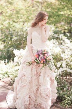 sareh nouri rose garden blush wedding gown