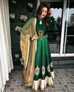 indian outfits ideas that trend in 2019 33 Indian Gowns, Indian Suits, Indian Attire, Indian Sarees, Indian Wear, Punjabi Suits, Anarkali Dress, Red Lehenga, Lehenga Choli