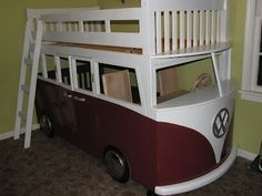 vw bus bed this is so cool wish my kids were little and have a cool bed like this
