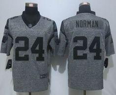 Nike Carolina Panthers 24 Josh Norman Limited Gridiron Gray Jersey 22.5$