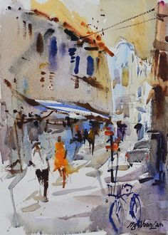 Singapore Watercolor Paintings by Ng Woon Lam NWS AWS 黄运南 - 新加坡水彩与油画家