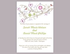 Invite Templates For Word Diy Wedding Rsvp Template Editable Word File Instant Download Rsvp .