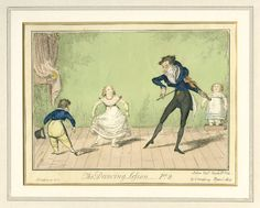 The Dancing Lesson, Part George Cruikshank Royal Academy Of Music, Country Dance, Shall We Dance, Dance Lessons, Learn To Dance, Ballroom Dancing, Dance Art, Regency, Vintage Posters