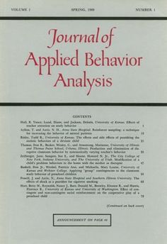 Journal of Applied Behavior Analysis. Is this what we should have our kids write for when they misbehave? @clintgriffin