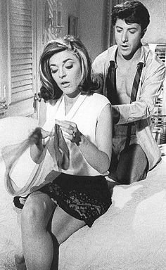 The Graduate 1967 Anne Bancroft Dustin Hoffman Hollywood Icons, Hollywood Actresses, Classic Hollywood, Old Hollywood, Anne Bancroft, Dustin Hoffman, Music Film, Film Movie, Female Actresses