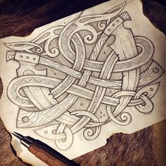 "Two scythe and snakes (Game ""Darksiders II: Death of Lives"" is dedicated) - fast sketch, workflow Косы и змеи (Игре ""Darksiders II: Death Lives "" посвящается  Быстро-скетч на тему ) #celtic #celticart #celticknot #ornaments #arzarz #scythetattoo #celticartlogo #artwork #drawing #Arzamastsev #siberia #doodle #scythe #celticdesign #knotwork #pencil #snakes #sketch #celticsnake #drawing #draw #эскиз #коса #кельтский #workflow #tattoo #celtictattoo #darksiders #game #darksiders2 #fanart..."