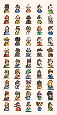 Free 50 Avatars Icon Pack | Pixlov