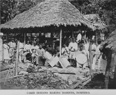 Kalinago/Carib Indians making baskets - Dominica