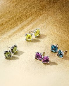Colorful gemstone studs from the Chatelaine®Collection.
