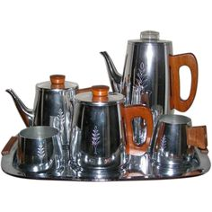 Mid-Century Modern Sona Stratford upon Avon 6 Piece Teak Tea and Coffee Set