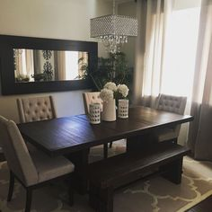 Model Home Monday Elegant Dining Dining Room Wall