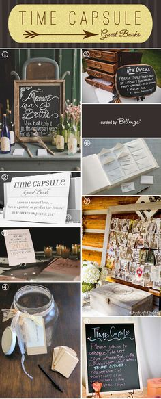 For a cool alternative to the traditional guestbook, a time capsule guest book makes the experience fun and interactive! See how you can you make your own today as featured on the Wedding Bistro at Bellenza! #timecapsuleguestbooks