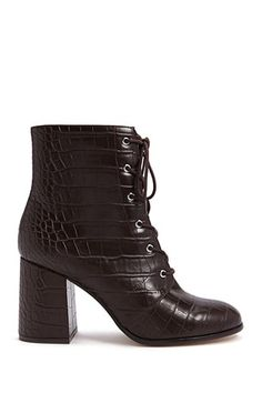 8ac0c4639ac7 Faux Croc Leather Booties Forever 21 Online, Aesthetic Fashion, Aesthetic  Style, Leather Booties