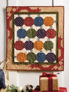New Quilt Patterns - 'Tis the Season for Quilting Tree Quilt Pattern, Star Quilt Patterns, Christmas Quilt Patterns, Christmas Wall Hangings, Circle Template, Fabric Markers, Quilted Table Runners, Quilted Wall Hangings, Red And Black Plaid