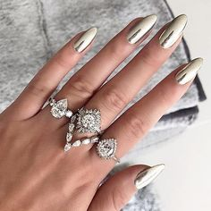 Chrome Nails Design And#8211; The Newest Manicure Trend ★ See more: http://glaminati.com/chrome-nails-design-trend/