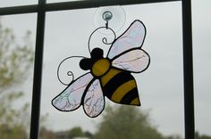 Stained Glass Bee. $25.00, via Etsy.