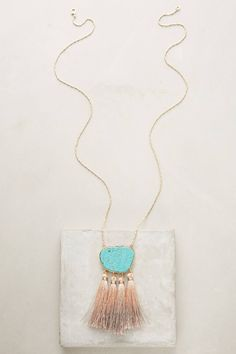 Discover unique Necklaces at Anthropologie, including the seasons newest arrivals. Anthropologie Wedding, Anthropologie Jewelry, Gemstone Jewelry, Jewelry Box, Women Jewelry, Tassel Necklace, Pendant Necklace, Unique Necklaces, Boho Chic