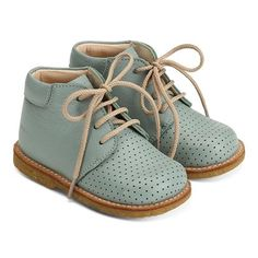 Leather shoes bootie toddler girl boy laces