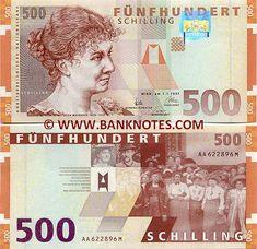 austria currency | Austria 500 Schilling 1997 - Austrian Bank Notes, Paper Money ...