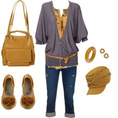 Mustard, created by #daniellej1116 on #polyvore. #fashion #style Comptoir Des Cotonniers True Religion