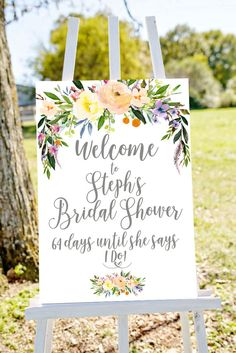 bridal shower sign bridal shower welcome sign por Papierscharmants