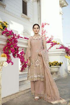Ravish brown unstitched 3 piece pret dress by Imrozia Premium Pakistani eid dresses in Dubai Pakistani Party Wear, Pakistani Couture, Indian Party Wear, Pakistani Dress Design, Pakistani Designers, Pakistani Outfits, Indian Wear, Dresses In Dubai, Eid Dresses