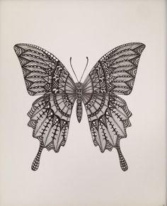 Zentangle Butterfly version 1